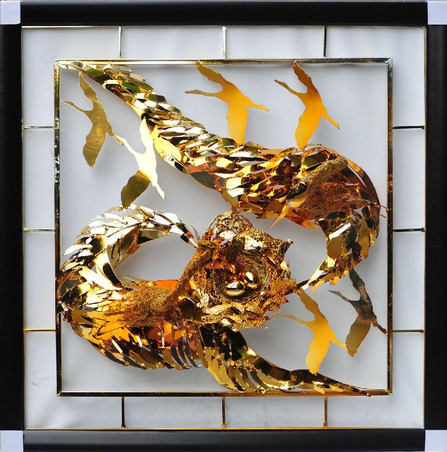酒店客房用品 软装饰品摆件 金属艺术品 铁艺挂画 金属 创意家居饰品
